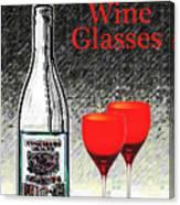 Twink Wine Glasses Canvas Print