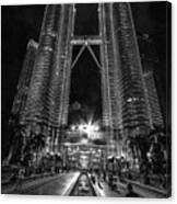 Twintowers At Night Canvas Print