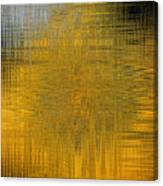 Twirl Art Yellow  Canvas Print