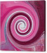 Twirl Pink  Canvas Print