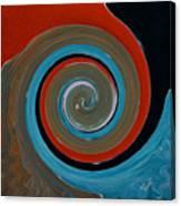 Twirl Red 01 Canvas Print