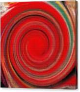 Twirl Red-0951 Canvas Print