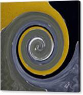 Twirl Yellow  Canvas Print