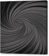 Twist To Black  - Black And Gray Art Canvas Print