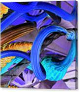 Twisted Blue Canvas Print