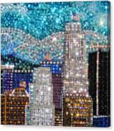 Los Angeles. Rhinestone Mosaic Beadwork Mix Canvas Print