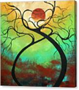 Twisting Love II Original Painting By Madart Canvas Print