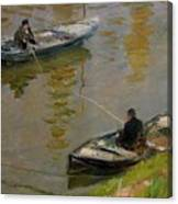 Two Anglers Canvas Print