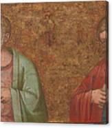 Two Apostles   Fragment Of Predella   Canvas Print