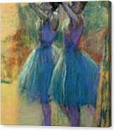 Two Blue Dancers Canvas Print
