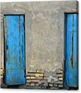 Two Blue Doors   Bukhara Canvas Print