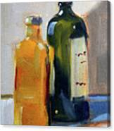 Two Bottles Canvas Print