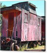Two Caboose Canvas Print