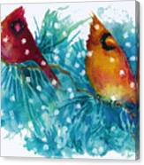 Two Cardinals Canvas Print