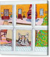 Two Cats In The Window Canvas Print