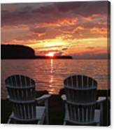 Two Chair Sunset Canvas Print