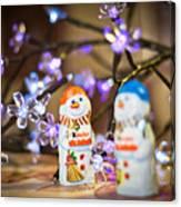 Two Chocolate Snowmen 2 Canvas Print
