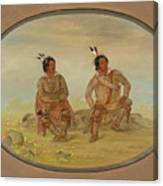 Two Choctaw Indians Canvas Print