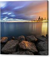 Two-colored Sky During The Sunrise Canvas Print