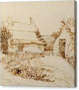 Two Cottages At Saintes Maries De La Mer Canvas Print