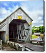 Two Covered Bridges Of St. Martins Canvas Print