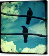 Two Crows Blue Lomo Sky Canvas Print