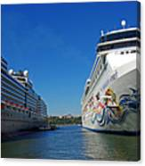 Two Cruise Ships Canvas Print
