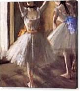 Two Dancers In The Studio Dance School Canvas Print