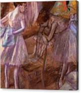 Two Dancers In Their Dressing Room Canvas Print