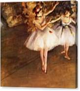 Two Dancers On Stage Canvas Print