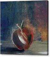Two Dimensional Apple Canvas Print