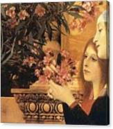 Two Girls With An Oleander Canvas Print