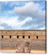 Two Headed Statue And Governors Palace Canvas Print