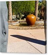 Two Heads Are Better Than One - Palm Desert Sculpture Gardens Canvas Print