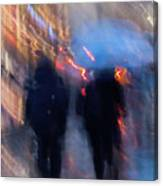 Two In The Rain Canvas Print