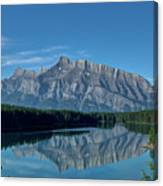 Two Jack Lake In The Morning Canvas Print
