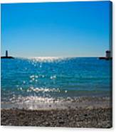 Two Lighthouse And The Wonderful Beach Canvas Print