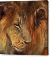 Two Lions Canvas Print