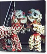 Two Lions Kung Fu Club Canvas Print