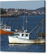 Two Lobster Boats Canvas Print