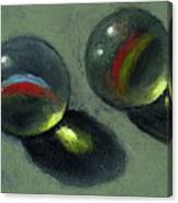 Two Marbles In Pastel Canvas Print