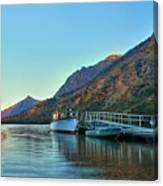Two Medicine Boat Dock Canvas Print