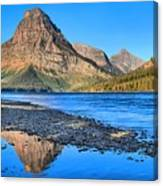 Two Medicine Lake Sunrise Panorama Canvas Print