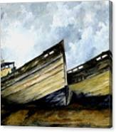 Two Old Boats Canvas Print