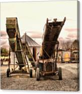 Two Old Conveyor Belts Canvas Print