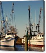Two Old Shrimpboats Canvas Print