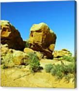 Two Orange Rocks Canvas Print