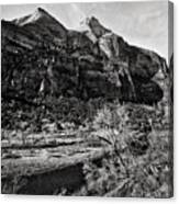 Two Peaks - Bw Canvas Print