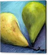 Two Pears Still Life Canvas Print