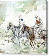 Two Riders Canvas Print